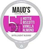Maud's Vanilla Almond Flavored Coffee (Hottie Biscotti Vanilla Almond), 60ct. Recyclable Single Serve Coffee Pods – Richly Satisfying Arabica Beans California Roasted, K-Cup Compatible Including 2.0