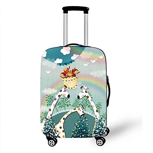 Funda para equipaje Impresión 3D de globo aerostático Protección para funda de equipaje Fundas para equipaje elásticas para protección de maletas de 18 a 32 (Color: H, Tamaño: L (25 '' - 28 ''))