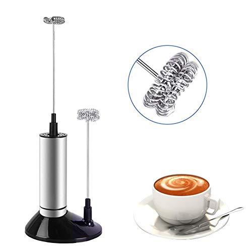 Elektrische Melkopschuimer Handheld, Mini Koffieopschuimer Elektrisch, Schuimmaker Met Standaard, Met één Druk Op Batterijen, Voor Koffie Latte Cappuccino