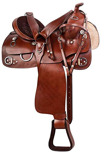 Open Store Western Leather Pink Crystal Bling Barrel Racing Show Horse Saddle Free TACK Set