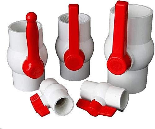 Accesorios roscados Válvula de bola de PVC de 1 UNIDS, hilos internos rectos / válvula de control del zócalo adhesivo, mariposa de 20-160 mm / manija única del interruptor de agua de la manija Accesor