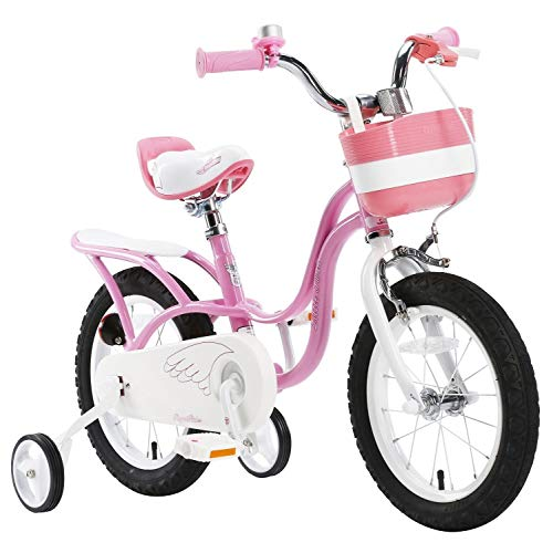 Royalbaby Girls' swan Kids Children Child Bike Bicycle stabilisers, Pink, 16'