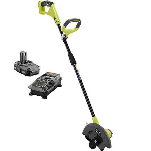 Discover Bargain Ryobi ONE+ 9 in. 18-Volt Lithium-Ion Cordless Edger, 1.3 Ah Battery and Charger Inc...