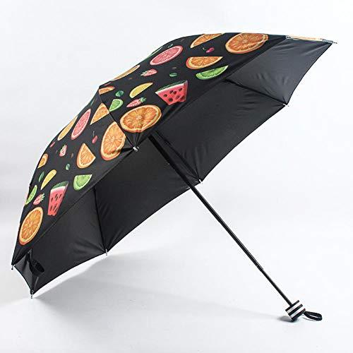 POMNEFE Paraguas, paraguas plegable con patrón de protección solar, anti-ultravioleta, paraguas plegable de protección solar, paraguas portátil de protección solar