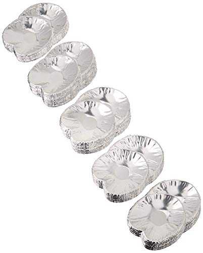 Disposable Aluminum Foil -Large- Clam Food Shells Pack of -250- by DCS Deals