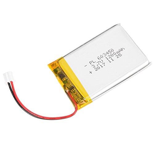 uxcell fuente de alimentación DC 3.7V 1200mAh 603450Li-Ion batería de polímero de litio Li-Po recargable