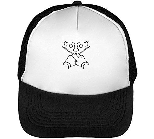 OVO Cartoon Hands Cool Men's Baseball Trucker Cap Hat Snapback Black White