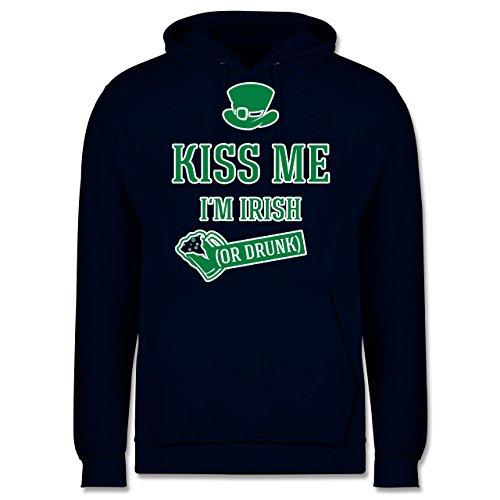 St. Patricks Day - St. Patricks Day Kiss me I'm Irish or Drunk - XS - Navy Blau - St. Patrick's Day...