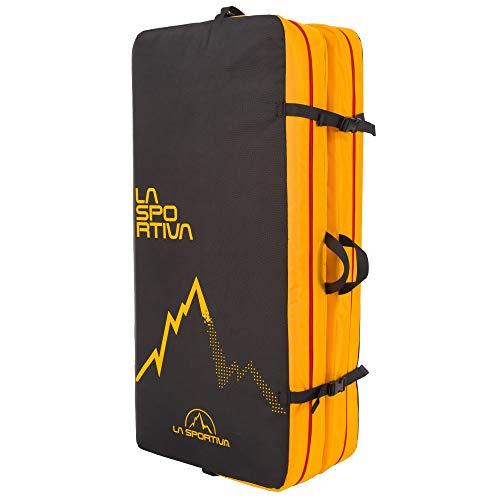 La Sportiva Laspo Crash Pad Colchoneta, Adultos Unisex, Black/Yellow (Multicolor), Talla Única ✅