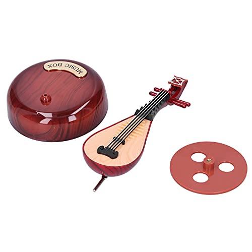 WAQU Caja de música-Pipa Caja de música giratoria Caja de música clásica clásica Adorno Cumpleaños Regalo del día de San Valentín
