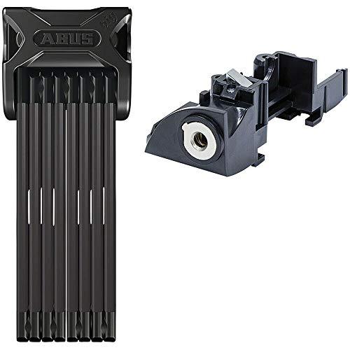 ABUS Bordo 6015/120 Folding Lock with keyed Alike eBike Battery Lock Core: Bosch Rack Type (RT2), Premium Key (Plus)