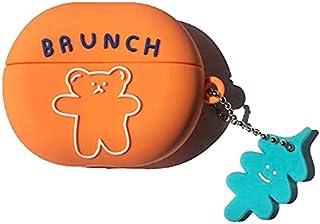 Silicone Shockproof Brunch Bear Protective Case Cover For Freebuds 4i Earphones - Orange