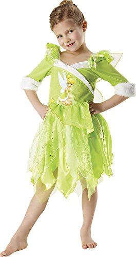 Peter Pan - Disfraz de Hada Campanilla de Invierno para nia, infantil 7-8 aos (Rubie's 881869-L)
