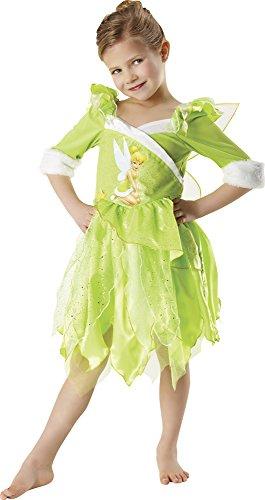 Peter Pan - Disfraz de Hada Campanilla de Invierno para nia, infantil 5-6 aos (Rubie's 881869-M)