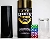 Dice Stacking Set Includes 8 Large 19mm Dice, 1 Short Beginner's Stacking Cup, 1 Tall Advanced Stacking Cup, Plus Storage Tube