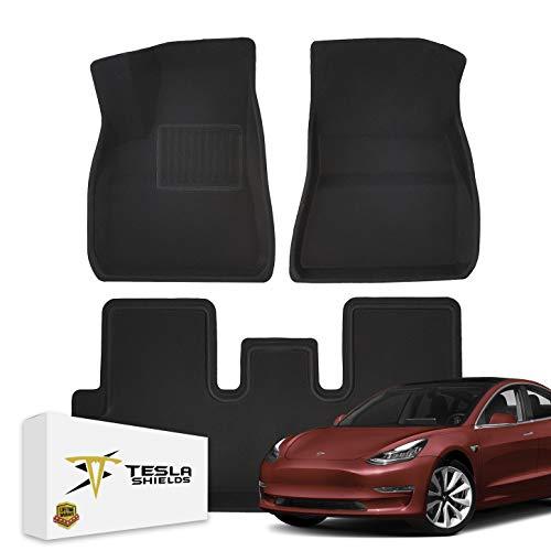 TeslaShields Custom Fit All-Weather Floor Mats Set for Tesla Model 3 (2017-2020)