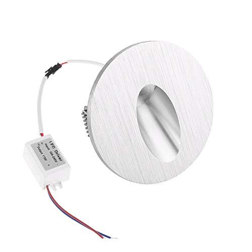 Moderne minimalistische led-wandlamp, wandlamp, achterlicht, straatverlichting, inrit, stappen, rond, 1W, DC12V_Cold_white_6000 K