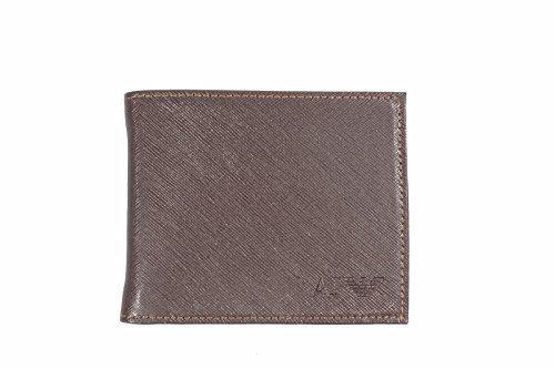 Portafoglio uomo ARMANI JEANS vera pelle men's wallet Genuine Leather (MORO)