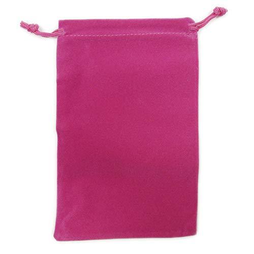 カラーポーチ 巾着袋 12×18cm 小物入れ ケース ソフトタイプ ベルベット スエード調 メガネポーチ サングラス 眼鏡 スマホ入れ スマートフォン アクセサリー用 (ピンク)