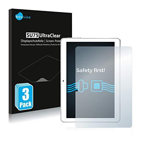 savvies 3-Pezzi Pellicola Protettiva Compatibile con Toscido X108 10  Protezione Schermo Trasparente