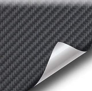 VViViD Black Carbon Fiber Weatherproof Faux Leather Finish Marine Vinyl Fabric (5ft x 54