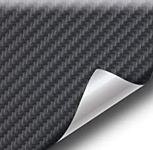 VViViD Black Carbon Fiber Weatherproof Faux Leather Finish Marine Vinyl Fabric (1.5ft x 54