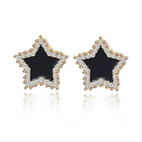 Damesoorbellen Sets Hoepels Oorbellen voor sterren Hartvormig Rond Blok Kristallen oorbellen Dagelijks collocatie Cadeaus voor vriendenez204wujiao