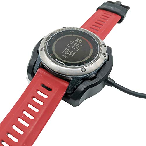 JIUJOJA for Garmin Fenix 3/Fenix 3 HR/Quatix 3/Tactix Bravo Charger Charging Dock Sync Data Cable 120CM/3.93 FT Cable Length for Fenix 3 Heart Smart Watch