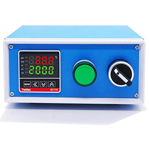 Twidec/Display PID Temperature Controllers Thermostat Box 1000W 10A 110V Temperature Temp Control Box with Solid State Relay SSR 40DA Oven Thermostatic Control Box