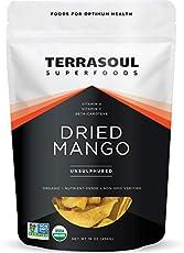 Terrasoul Superfoods Organic Dried Mango Slices, 16 Oz - Naturally Sweet & Tart | Healthy Prebiotic