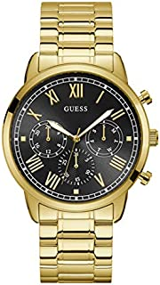 Guess Dress Watch for Men, Stainless Steel Case, Black Dial, Analog
