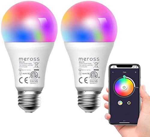 Ampoule Connectée WiFi, 2 Ampoules LED Intelligentes...