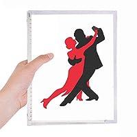 ダンス社交ダンスデュエットダンス 硬質プラスチックルーズリーフノートノート