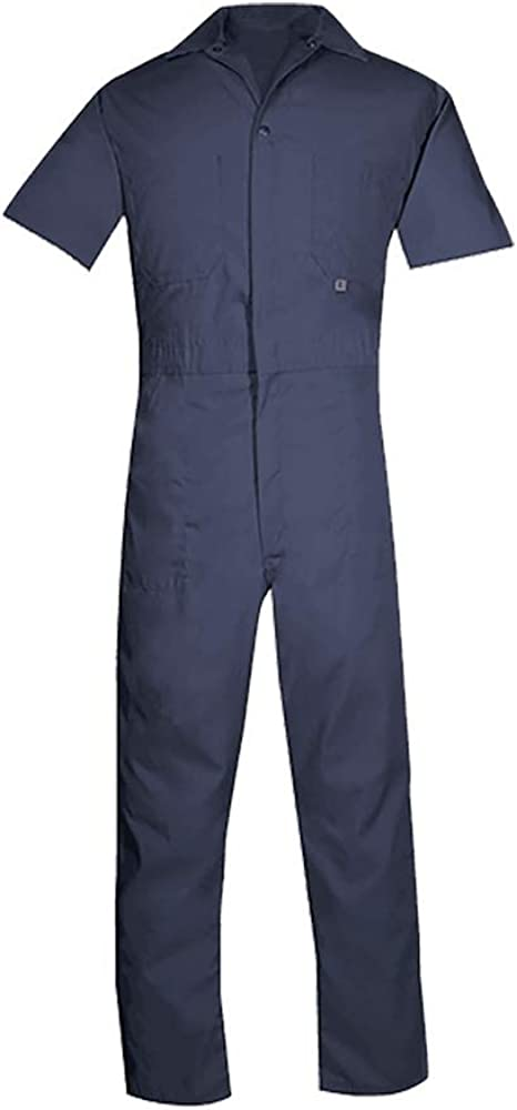 Big Bill Workwear Men's 405 Lightweight Poplin Short-Sleeve Work Coverall - Made in Canada