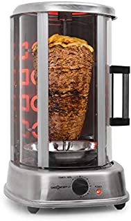 oneConcept Kebap Master Pro - Grill Doner, rôtissoire poulet, Grill Gyros, Broche verticale, Grill rotatif avec rôtissoir...