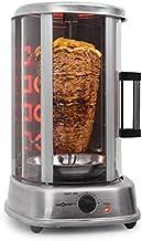 oneConcept Kebap Master Pro - Grill Doner, rôtissoire poulet, Grill Gyros, Broche verticale, Grill rotatif avec rôtissoire...