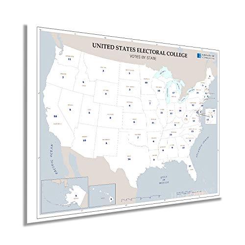Historix 2008 United States Electoral College Votes by State Map Poster - 18x24 Inch Electoral College Poster - Electoral Map Poster - Presidents of the United States Poster Election Map - (2 sizes)