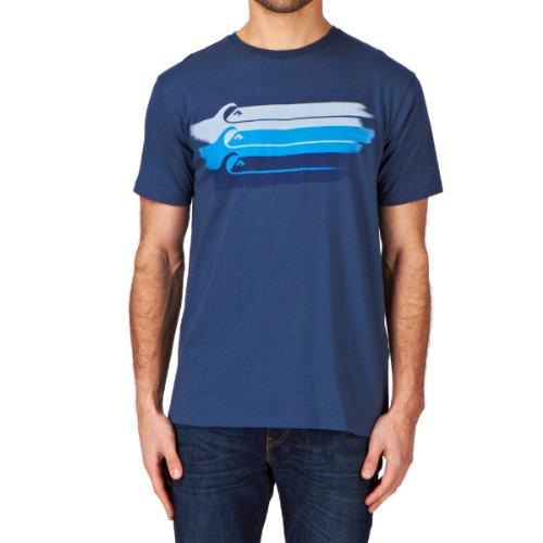 Quiksilver SS Basic tee MSP Q3 - Camiseta/Camisa Deportivas para Hombre, Color Azul, Talla S