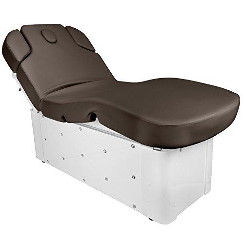 Active Kosmetik Massageliege Behandlungsliege Wellnessliege 370b elektrisch 3 Motoren mit Kristallen braun