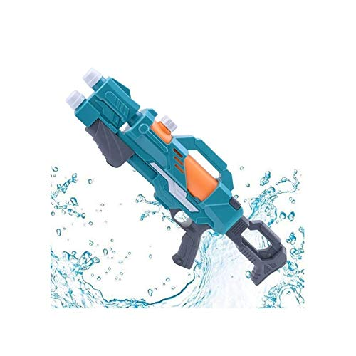 ZFLY-JJ Leistungsstarke Wasserpistole 2 Düsen Pump Action 10m Fernschießwasserpistole Super Soaker Blaster für Kinder Erwachsene Summer Beach Swimming Pool White (Color : Blue)