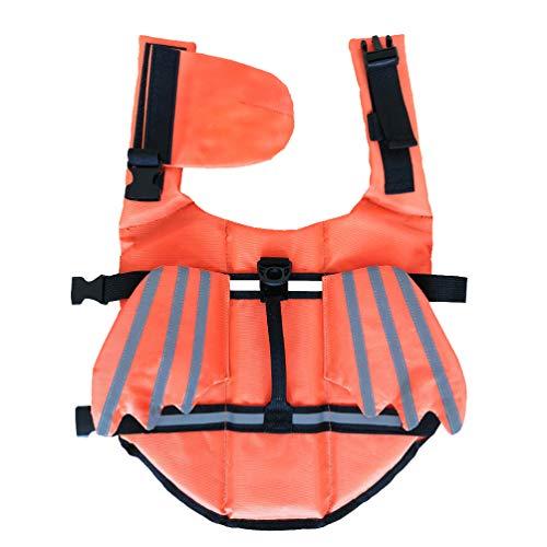 Balacoo Gilet de Sécurité pour Animaux de Compagnie Dispositif de Flottaison Manteau de Sauvetage pour Petit Chien Gilet de Natation pour Chiot (Taille S)