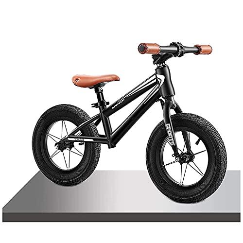 JKYP Bicicleta de 40,6 cm grande blanco/negro equilibrio para niño grande, asiento ajustable y manillar bicicleta de entrenamiento, sin pedal, para 8 – 12 años, carga 80 kg (color: A)