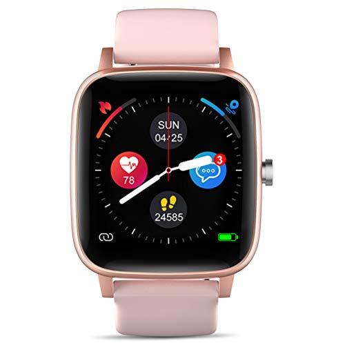 HJKPM Pantalla De Color Deportes Bluetooth Smartwatch, Pantalla Táctil Completa Smart Watch para Ritmo Cardíaco ECG Blood Oxygen Detection Soporta Varios Idiomas,Rosado
