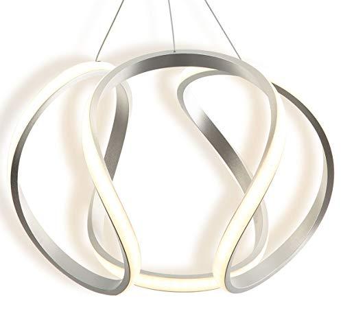 LED Hängelampe Deckenlampe Decken Pendel 35cm Licht Warmweiß elegant geschwungene Kugel Form Lüster Lampe Länge einstellbar Lewima Georgin