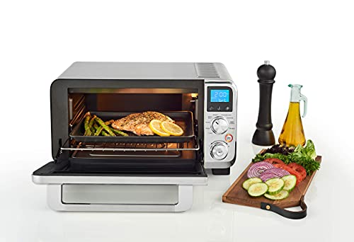 De'Longhi Livenza Compact Oven, 1800W Countertop Convection Toaster Oven, 9 Presets Roast, Broil, Bake, Easy to Use, 14L (.5 cu ft).Stainless Steel, EO141150M (Renewed)