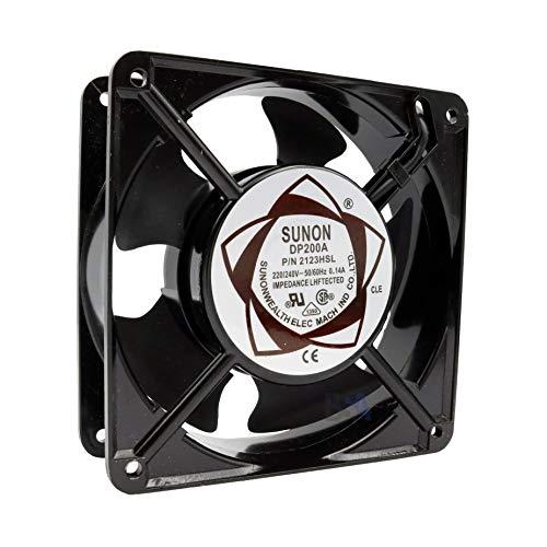 SUNON Ventilador 120 mm 120 x 120 x 38 DP200A.2123HSL 220 V 230 V 240 V AC 0,14 A 30,8 W Air Fan 12 cm 2 hilos (+/-) refrigeración