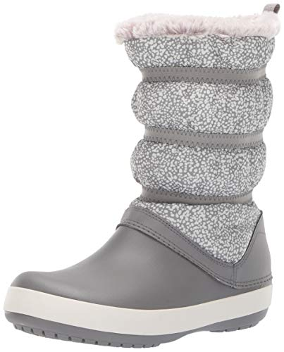 crocs Crocband Winter Boot Women, Botas de Nieve para Mujer, Multicolor (Dots/Smoke), 36/37 EU