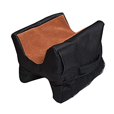 Ationgle Shooting Rest Bag Outdoor Support Sandbag Stand Holders for Gun Rifle Durable Construction Target Sports Shooting Bench Rest for Shooting Hunting Photography - Unfilled