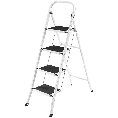 4-Step Steel Step Stool 300 lb. Load Capacity