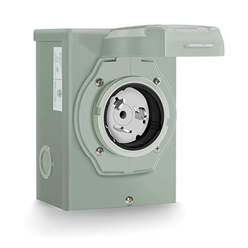 Rophor 50 Amp Generator Power Inlet Box, NEMA SS2-50P Power Inlet Box for 3 Prong Generator Cord, 125/250 Volt, 12500 Watts, Weatherproof, Outdoor Use, ETL Listed